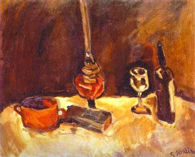 Natureza Morta com Lâmpada - Chaïm Soutine e seu expressionismo violento e atormentado