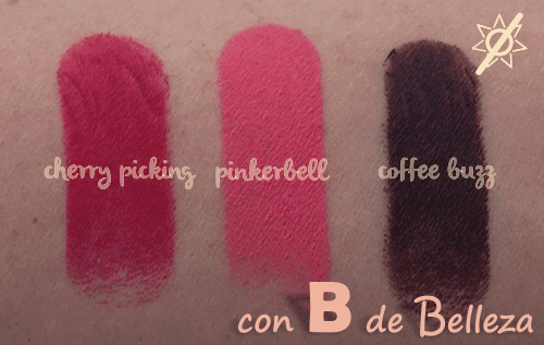 Swatches barra labios Megalast