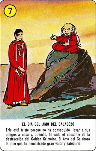 Baraja Dragones y mazmorras Heraclio Fournier Carta amarilla 7