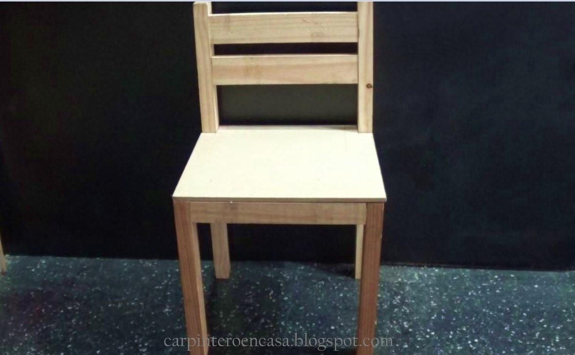 Carpintero en casa como hacer una silla de madera f cil for Como hacer sillas de madera para comedor