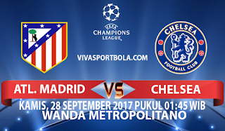 Prediksi Ateltico Madrid vs Chelsea 28 September 2017