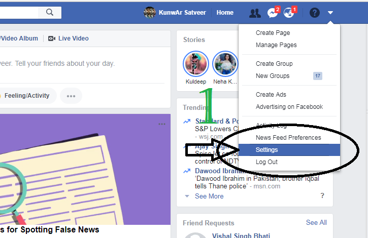 How to delete facebook account permanently tech inspiration facebook account because without login we will cant delete account after login done choose account setting option to start delete account process ccuart Image collections