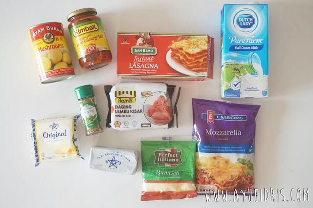 Bahan-bahan Resepi Lasagna Mudah dan Sedap (Step by Step)
