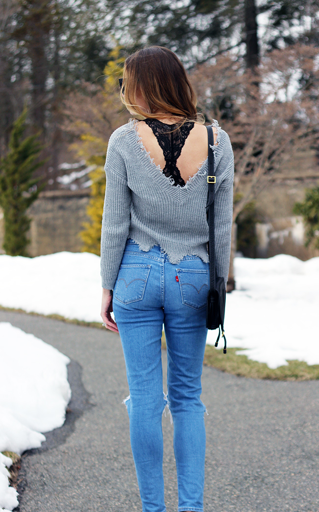 Scoop Back Sweater