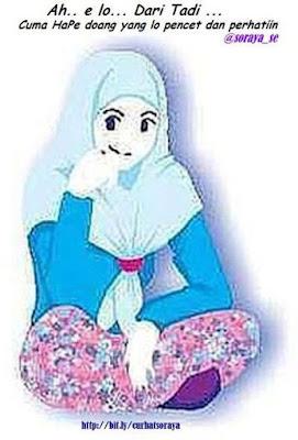 gadis kartun cewek jilbab
