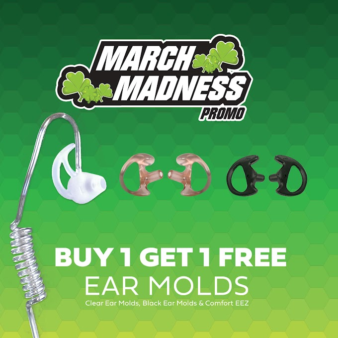 Code Red March Madness Promotion : Buy 1 Get 1 Free Earmolds