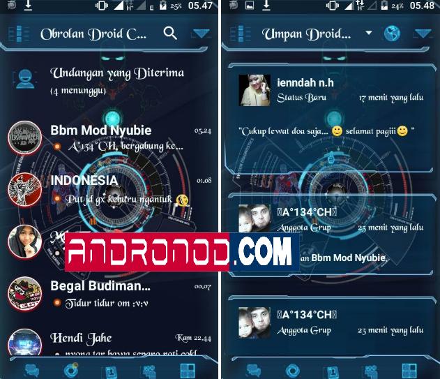 BBM Mod Droid Chat Futuristic v3.1.0.13 Apk