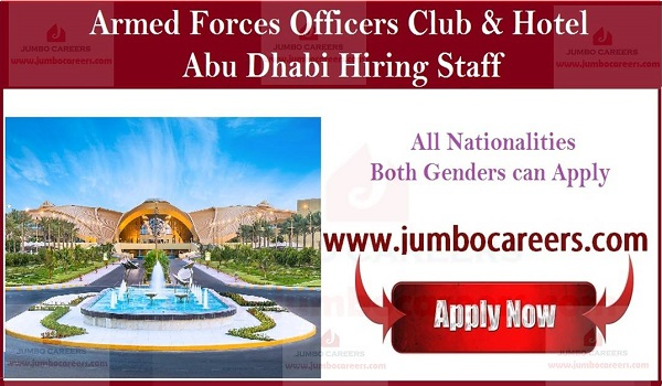Latest hotel job openings in Abu Dhabi, Current hotel job sin UAE,