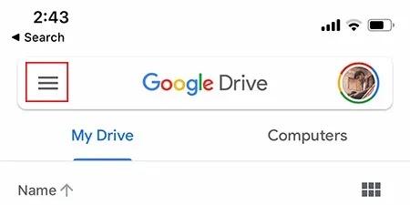 تأمين قائمة Google Drive