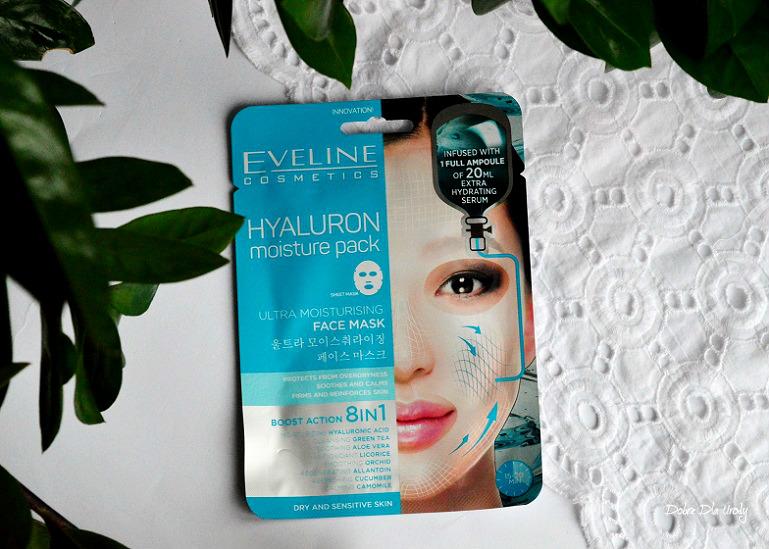 Eveline Hyaluron Moisture Pack Ultranawilżająca maska na tkaninie z kwasem hialuronowym recenzja