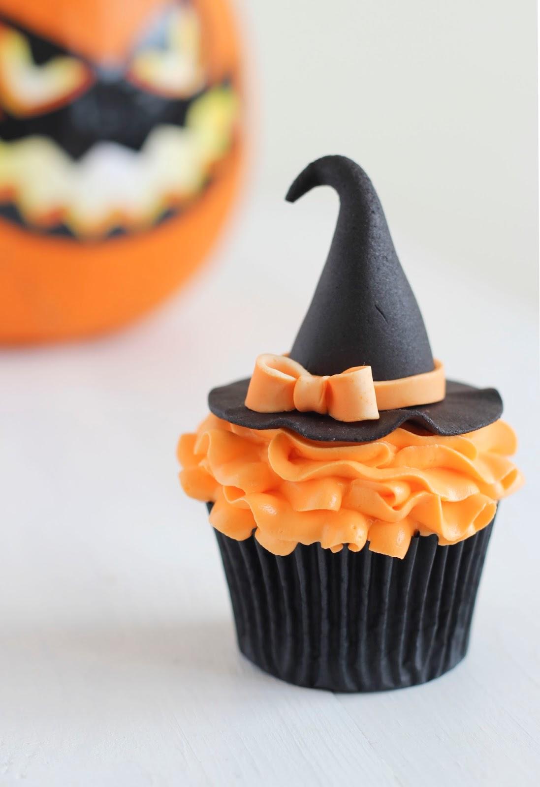 La guinda del pastel cupcakes de calabaza y especias - Halloween decorations for cupcakes ...