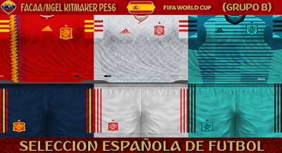 PES 6 Kits Spain National Team World Cup 2018 by FacaA/Ngel