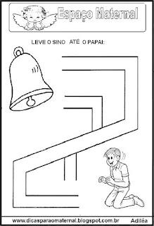 Labirinto símbolos da páscoa