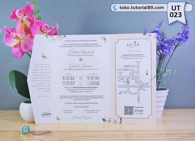 Undangan pernikahan UT023 - Semi Amplop +free kartu ucapan terima kasih