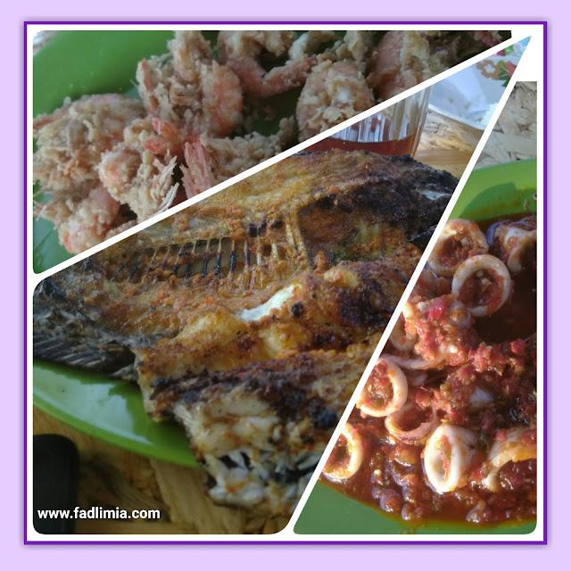 Makan ikan bakar di bagat percut