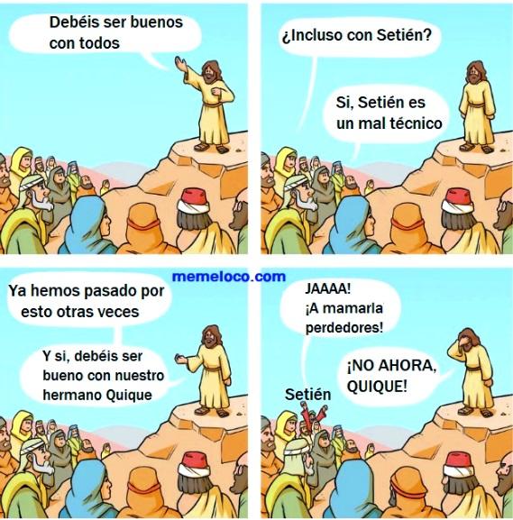 Debemos se Buenos con Setién jesus sermon meme barcelona vs. atletico madrid