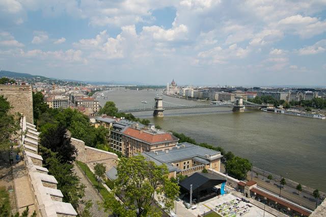 Vista dalla collina del Castello-Budapest