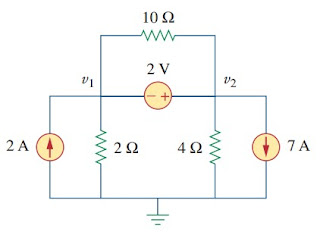 supernode analysis electric circuit