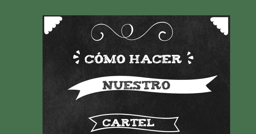 MY LIFE: COMO HACER TU CARTEL DE PIZARRA Y TIZA