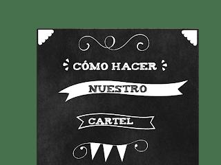 COMO HACER TU CARTEL DE PIZARRA Y TIZA