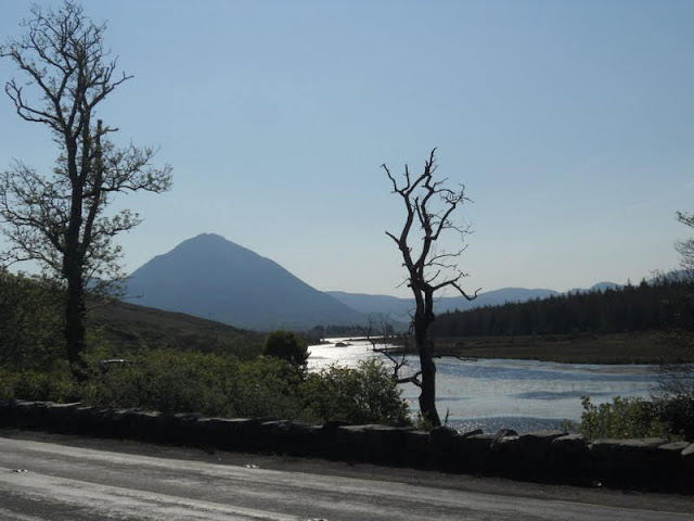 County Donegal Ireland Road Trip: View of Mt. Errigal from Gweedore