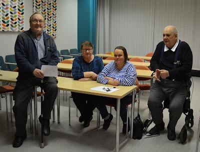 Alkuperäisbloggaajat Päivi, Eila, Niilo ja IsoTimppa