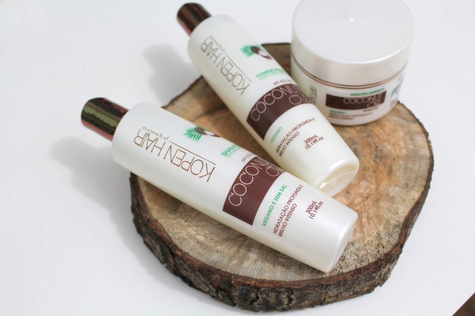 linha coconut oil Kopen Hair oleo de coco tratamento cachos vegano anadodia ana do dia shampoo condicionador máscara