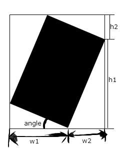 Basic Logic: JavaScript Bound Rectangle Area while Rotation