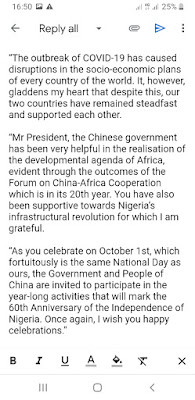 Check Out Contents Of Buhari's Letter to Chinese President, Xi Jinping