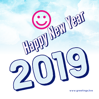 Smiles happy New Year 2019 unique png image