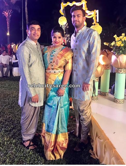 Harshitha Reddy Kanchi Silk Saree