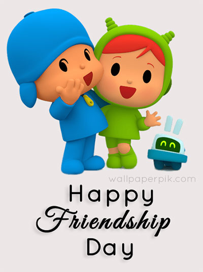 cartoon hppy friendship day image  for kids