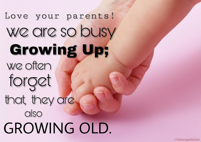 Love your parents! we are so busy growing up; we often forget that, whey are also growing old.