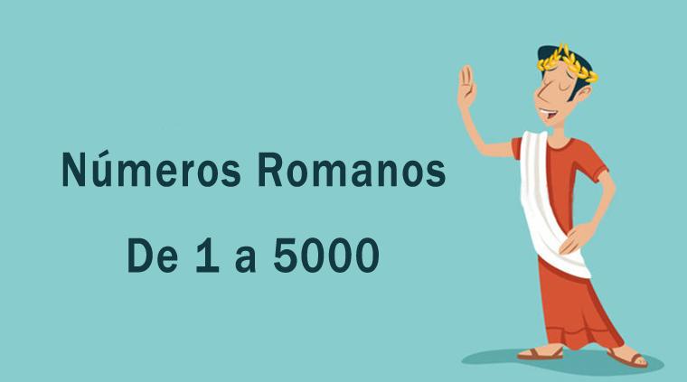 Números romanos de 1 a 5000