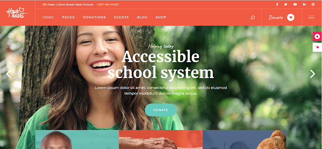 Nonprofit Fundraising & Charity WordPress Themes  With Donation System   HaveHeart