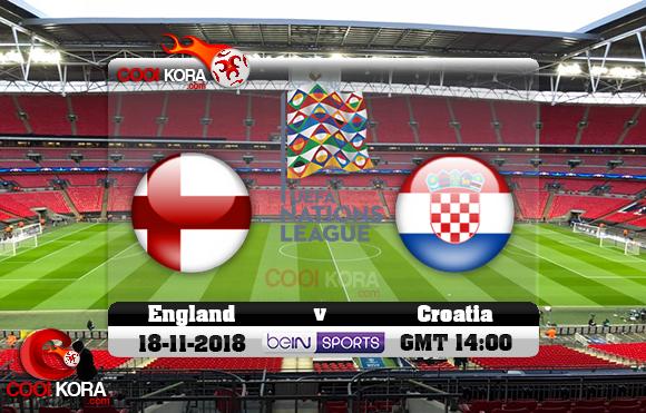 مشاهدة مباراة إنجلترا وكرواتيا اليوم 18-11-2018 دوري الأمم الأوروبية