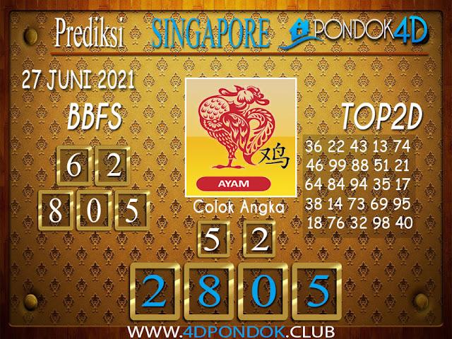Prediksi Togel SINGAPORE PONDOK4D 27 JUNI 2021