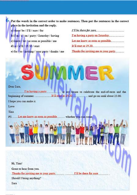 8. Sınıf İngilizce Tutku Yayınları Çalışma Kitabı Cevapları Sayfa 10