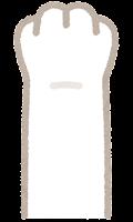 猫の手のイラスト(白)