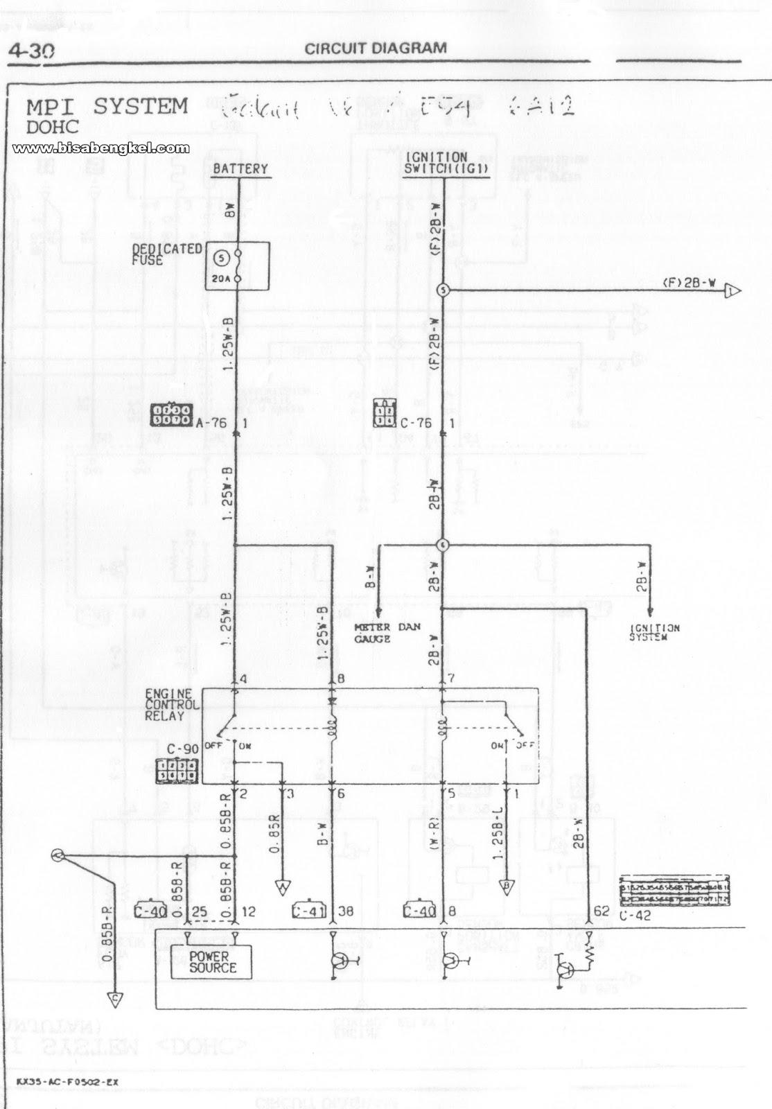 DIAGRAM KELISTRIKAN POWER SUPPLY MITSUBISHI GALANT V6 GALANT