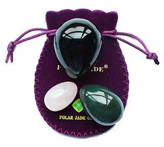 Nephrite Jade, Rose Quartz and Obsidian Yoni Eggs