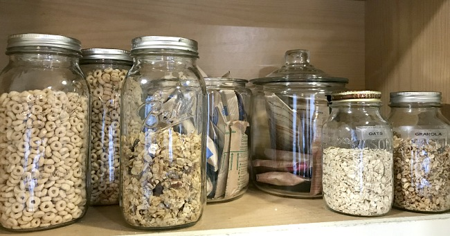 DIY Mason Jar Organization in the Kitchen