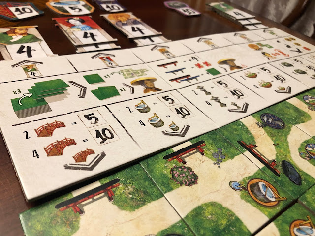 The One Hundred Torii game by Pencil First Game; solo board variant; photo by Benjamin Kocher 2020