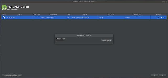 Launching Emulator