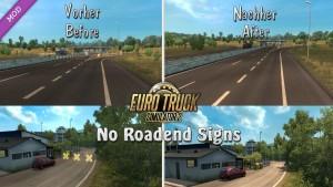 No Roadend Signs mod