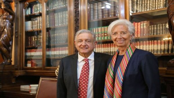 Presidente de México recibe a la directora del FMI