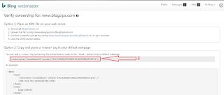 #Gambar 3 Cara Verifikasi Blog Ke Bing Webmaster
