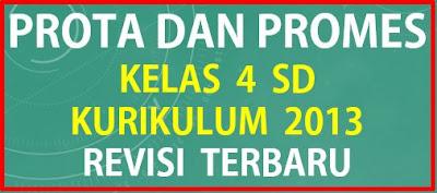 Prota dan Promes Kelas 4 SD Kurikulum 2013 Revisi Terbaru