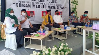 Terapkan Prokes Ketat, PWI Tuban Gelar Diskusi Politik Pilkada 2020 di Tengah Pandemi Covid-19