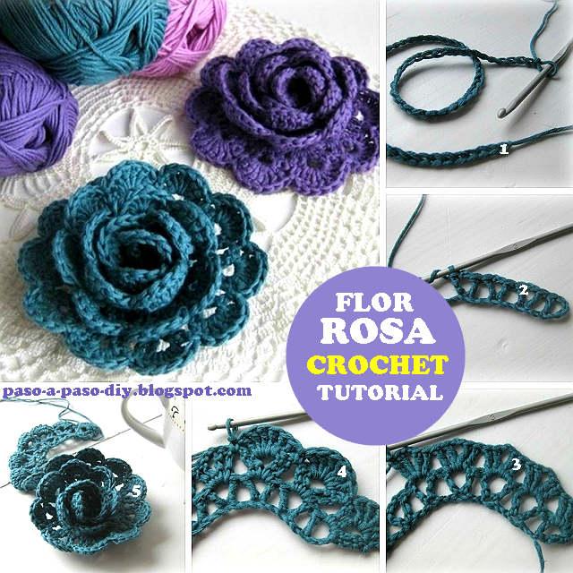 Como tejer una flor crochet